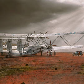 Plane - Hanno ready to take off 1931 by Mike Savad