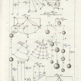 Plate 3 From Tractatio De Theoria Descensus Et Ascensus Gravium Obliqui Ejusque Multiplici Applicati by Joseph Anton Zimermann