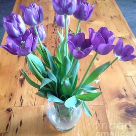 Playful and Pleasant - Purple Tulips Flower Bouquet Perfect for Easter This Spring by Sylvie Marie