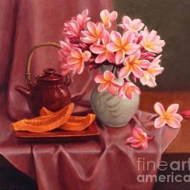 Plumeria and Papaya by Fiona Craig
