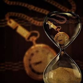 Pocket Watch And Sandglass