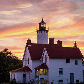 Point Iroquois Sunset by Amanda Cook