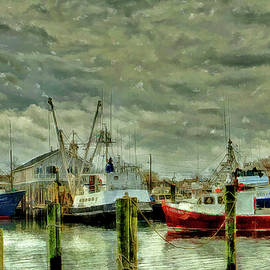 Geraldine Scull - Point Pleasant New Jersey marina water color