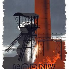Polska - Gorny Slask - Poland - Retro travel Poster - Vintage Poster - Studio Grafiikka