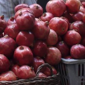 Pomegranates at Jerusalem's Old City Market by Brian Tada