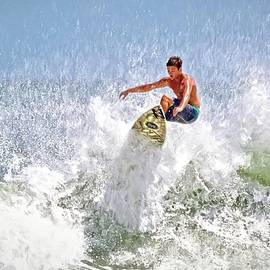 Ponce Inlet Surfer Five by Alice Gipson