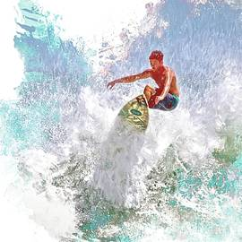 Ponce Inlet Surfer Six by Alice Gipson