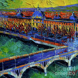 Mona Edulesco - PONT WILSON AND HOTEL DIEU DE LYON by Mona Edulesco