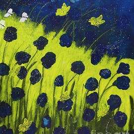 Catalina Walker - Poppies and Butterflies in the Meadow