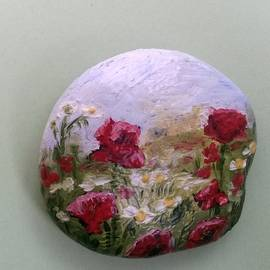 Poppies and chamomiles by Olga Ignatskaya