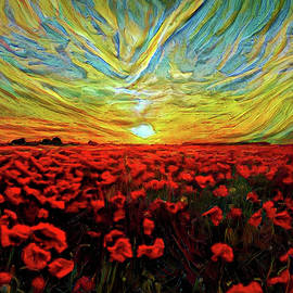 Lilia D - Poppy Landscape Sunset