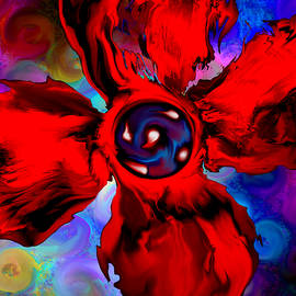 Poppy Mosaic by Abstract Angel Artist Stephen K