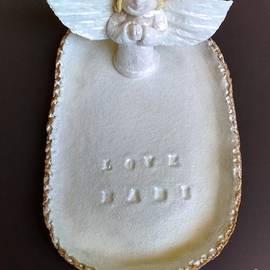 Alena Fletcher - Porcelain Angel pacifier plate