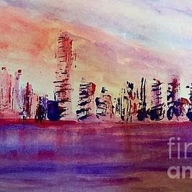 Port of Miami Abstract by Anne Sands