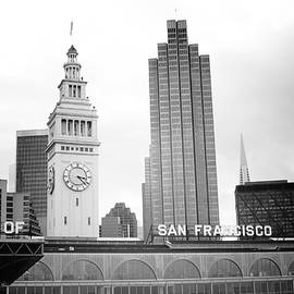 Port Of San Francisco Black and White- Art by Linda Woods - Linda Woods