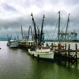 Port Royal Shrimp Boat Day of Rest by Norma Brandsberg