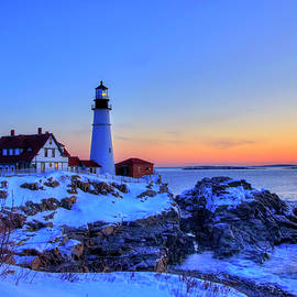 Portland Head Lighthouse in Winter by Joann Vitali