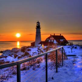 Portland Head Lighthouse Sunrise - Maine by Joann Vitali