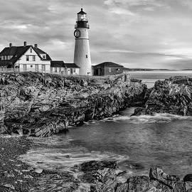 Susan Candelario - Portland Lighthouse Sunrise BW