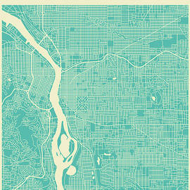 PORTLAND STREET MAP 2 - Jazzberry Blue