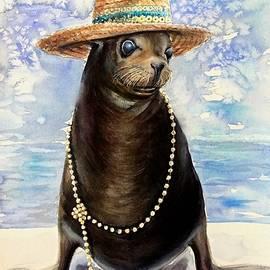 Portrait of a sea lion by Katerina Kovatcheva