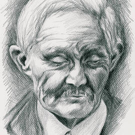 Portrait Of A Swedish Immigrant by MM Anderson