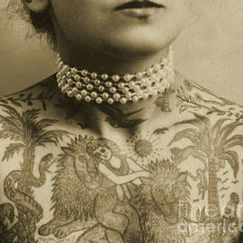 Portrait of a tattooed woman, 1905 - English School