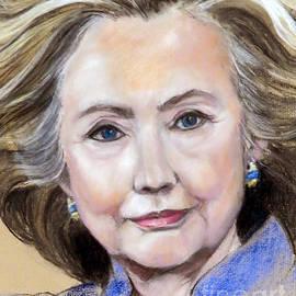 Greta Corens - Pastel Portrait of Hillary Clinton