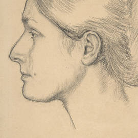 Portrait Of Hortense Valpincon by Edgar Degas
