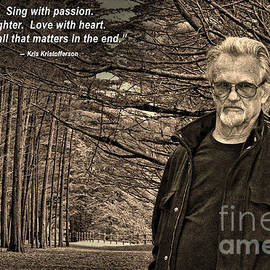 Portrait of Kris Kristofferson in a Wooded Bluff III by Jim Fitzpatrick