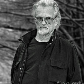 Portrait of Kris Kristofferson in a Wooded Bluff by Jim Fitzpatrick