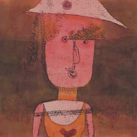 Portrait Of Mrs P In The South By Paul Klee 1924 by Paul Klee