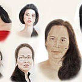 Jim Fitzpatrick - Portraits of Lovely Asian Women II