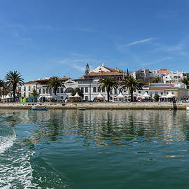 Georgia Mizuleva - Postcard from Lagos Portugal - Colorful Wake at the Waterfront