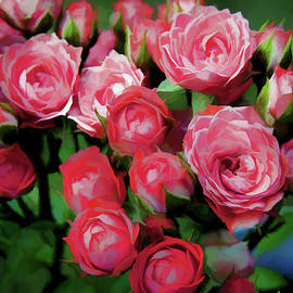 Pot of Roses by Ronald Bolokofsky