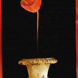 Sarah Loft - Potted Red Tulip