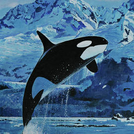 Powerful Orca Whale by Bill Dunkley