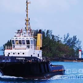 Powerful Tug Boat Underway In  Bermuda by Marcus Dagan