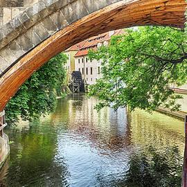C H Apperson - Prague Canal Bridge and Mill