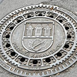 Prague Manhole Cover by John Hughes