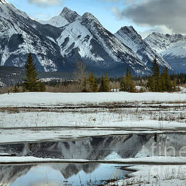 Preachers Point Icy Reflections by Adam Jewell