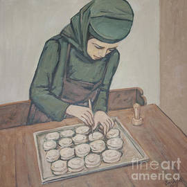 Olimpia - Hinamatsuri Barbu - Preparing communion bread