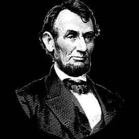 War Is Hell Store - President Abraham Lincoln Graphic - Black and White
