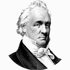 President James Buchanan Graphic - Black and White - War Is Hell Store