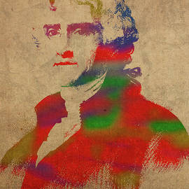 Design Turnpike - President Thomas Jefferson Watercolor Portrait