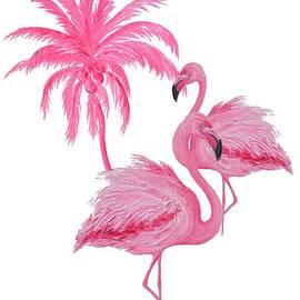 Pretty Flamingos by Jan Matson