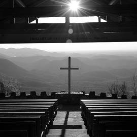 Pretty Place Aka Fred W. Symmes Chapel Black And White by Lisa Wooten