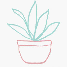 Pretty Potted Plant Illustration- Art by Linda Woods - Linda Woods