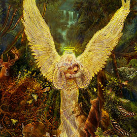Steve Roberts - Priestess Of The Woods-Angel tarot card