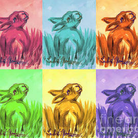 Primary Bunnies by Linda L Martin